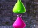 لعبة الزجاجات الملونة الساقطة